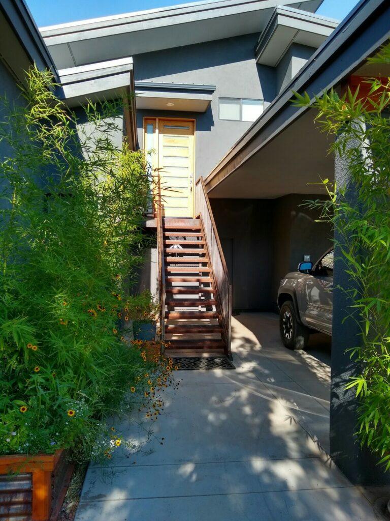 Sedona Home stairs to main house